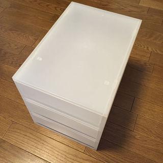 MUJI (無印良品) - 3段プラスチック収納箱