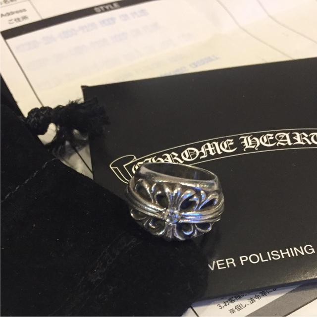 Chrome Hearts(クロムハーツ)の【レア商品】クロムハーツ フローラルクロス1ダイヤリング メンズのアクセサリー(リング(指輪))の商品写真