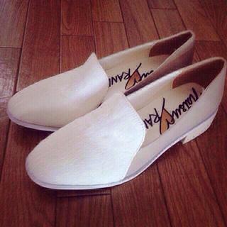 ランダ(RANDA)のRANDA×natsuホワイトローファー(ローファー/革靴)