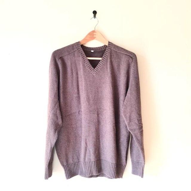 MUJI (無印良品)(ムジルシリョウヒン)の無印良品 Vネックセーター メンズのトップス(ニット/セーター)の商品写真