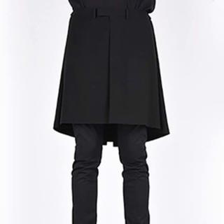 ラッドミュージシャン(LAD MUSICIAN)のラッドミュージシャン 16ss エプロン スカート 巻きスカート ナノブラック