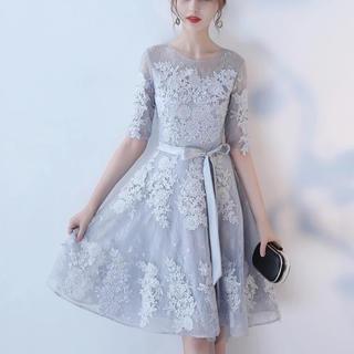 ドレス レースチュールワンピース 結婚式パーティー 5色(その他ドレス)