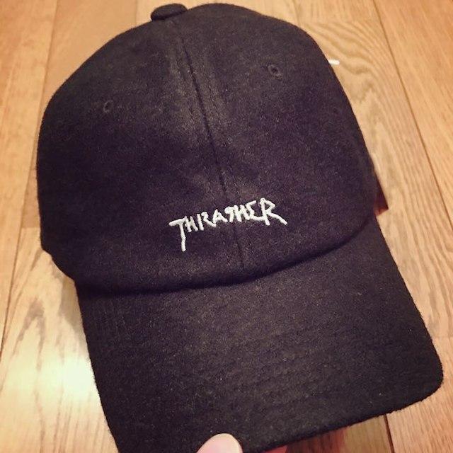 THRASHER スラッシャー キャップ メルトン ローキャップ Supreme メンズの帽子(その他)の商品写真