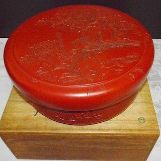 【未使用品】漆器 村上堆朱 30×12cm 茶櫃(その他)