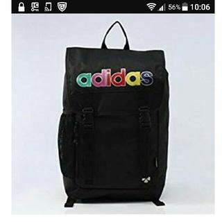 アディダス(adidas)の☆おたつ443様専用☆ももクロ ポシュレ第2弾 adidas リュック 黒(アイドルグッズ)