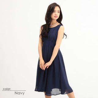AVA/新品Aラインタッグミニドレス/ワンピース11号 (ミディアムドレス)