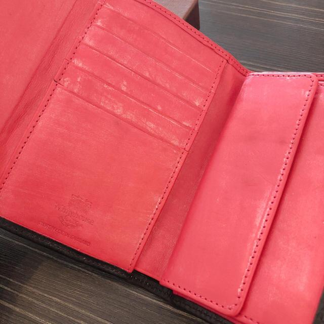 WHITEHOUSE COX(ホワイトハウスコックス)のWhitehouse Cox♡三つ折り財布♡ブラック×ピンク♡ブライドルレザー メンズのファッション小物(折り財布)の商品写真