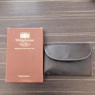 ホワイトハウスコックス(WHITEHOUSE COX)のWhitehouse Cox♡三つ折り財布♡ブラック×ピンク♡ブライドルレザー(折り財布)