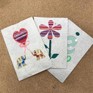 バナナペーパー グリーティングカード 3枚セット(カード/レター/ラッピング)