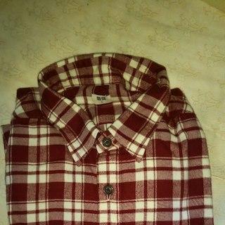ユニクロ(UNIQLO)のユニクロ フランネルシャツ 赤 LLサイズ(シャツ)