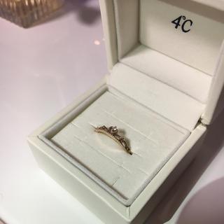 ヨンドシー(4℃)の新品♡ティアラ♡ダイヤ♡指輪(リング(指輪))