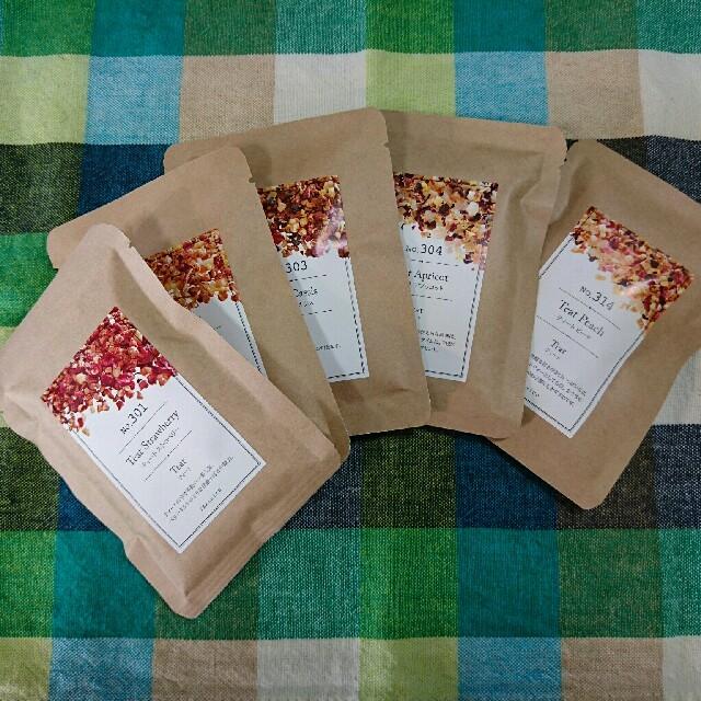 TEAtrico ティートリコ 10gサイズ色々5種類セット 食べれる紅茶 食品/飲料/酒の飲料(茶)の商品写真