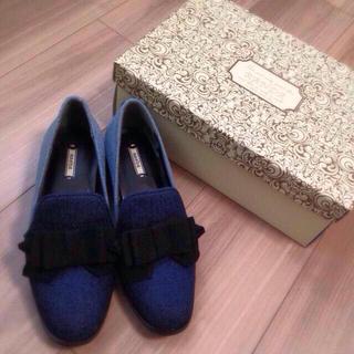 ランダ(RANDA)のリボン付きローファーパンプス(ローファー/革靴)