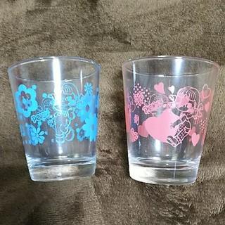 フジヤ(不二家)のペコちゃんペアグラス(グラス/カップ)