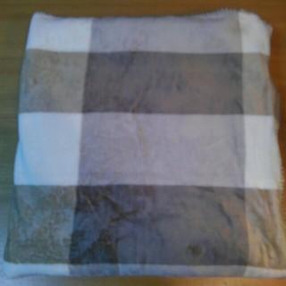 ムジルシリョウヒン(MUJI (無印良品))の未使用 無印良品 あたたかファイバー軽量毛布 シングル ベージュチェック(毛布)