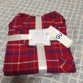 ジーユー(GU)のXL ジーユー パジャマ チェック 赤 GU(パジャマ)