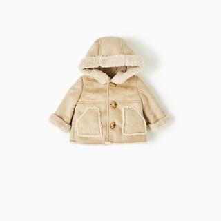 ザラキッズ(ZARA KIDS)のZARA KIDS ザラ キッズ フェイクファームートンコート 子供服(ジャケット/コート)
