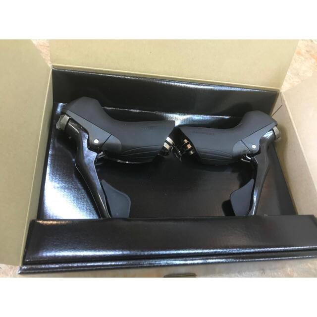 シマノST-R8000『2×11s対応STIレバー』ワイヤー付き スポーツ/アウトドアの自転車(パーツ)の商品写真