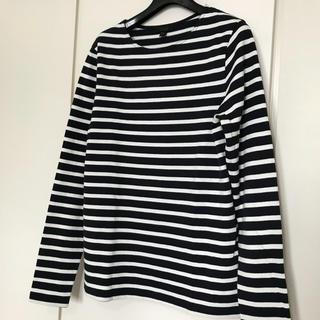 コス(COS)のCOS コス ボーダーTシャツ ロンティー 新品未使用 メンズ レディース紺白黒(Tシャツ/カットソー(七分/長袖))