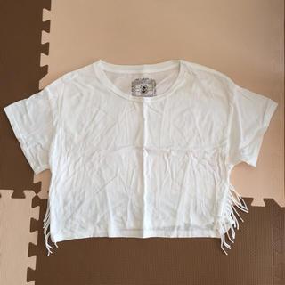 アウラアイラ(AULA AILA)のアウラアイラ ショート丈  白Tシャツ(Tシャツ(半袖/袖なし))