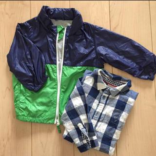 エイチアンドエム(H&M)の売約済!!羽織セット☆シャツ&ウインドブレーカー 90 男の子(ジャケット/上着)