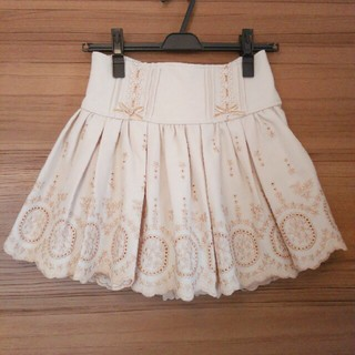 リズリサ(LIZ LISA)のLIZ LISA スカパン スカート ベージュ(ミニスカート)