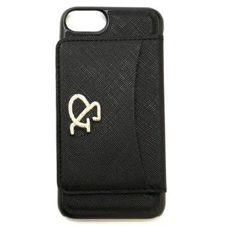 アンドバイピーアンドディー(&byP&D)の新品 &byP&D  iPhone6/7 カード入れ付きカバーケース ブラック(iPhoneケース)