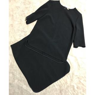 ドゥーズィエムクラス(DEUXIEME CLASSE)のドゥーズィエムクラス トリアセジョーゼット セットアップ 紺(スーツ)