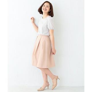 デミルクスビームス(Demi-Luxe BEAMS)のDemi Luxe BEAMS Wグログラン タフタ スカート定価15,120円(ひざ丈スカート)