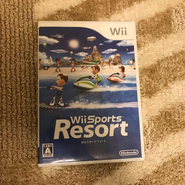 Wii(ウィー)の★ゲームソフト★Wiiスポーツリゾート 取扱説明書有! エンタメ/ホビーのテレビゲーム(家庭用ゲームソフト)の商品写真