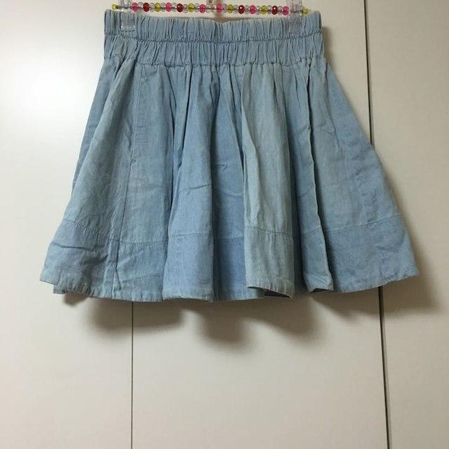 LOWRYS FARM(ローリーズファーム)のデニムミニスカート レディースのスカート(ミニスカート)の商品写真