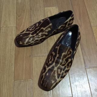 サンローラン(Saint Laurent)のYSL イヴサンローラン メンズ レオパード柄 靴 スリッポン(スリッポン/モカシン)