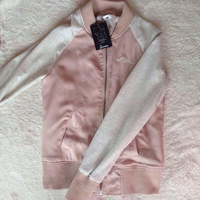 ベビーピンク♥︎スタジャン レディースのジャケット/アウター(スタジャン)の商品写真