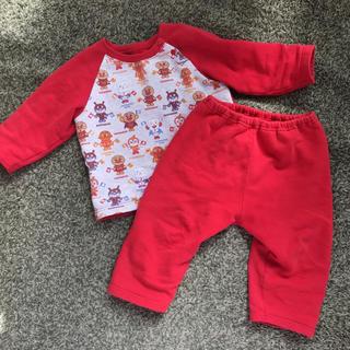 アンパンマン(アンパンマン)のアンパンマン裏起毛パジャマ♡赤 90(パジャマ)