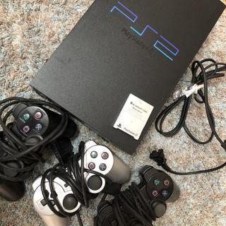 プレイステーション2(PlayStation2)の【美品】PlayStation2本体  純正メモリーカード、コントローラ付き(家庭用ゲーム本体)