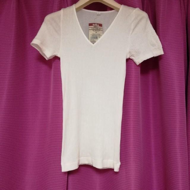 MUJI (無印良品)(ムジルシリョウヒン)の新品 無印良品 インナーシャツ 下着 白 MUJI アンダーウェア レディースの下着/アンダーウェア(アンダーシャツ/防寒インナー)の商品写真