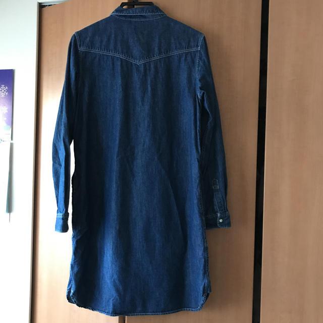 MUJI (無印良品)(ムジルシリョウヒン)の無印良品   デニムワンピース レディースのワンピース(ひざ丈ワンピース)の商品写真