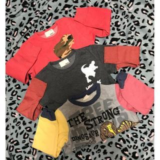 サンカンシオン(3can4on)の美品☆カッコイイ恐竜☆服12枚詰め合わせ☆110cm~120cm(Tシャツ/カットソー)