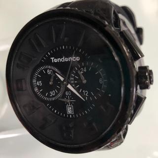 テンデンス(Tendence)の【最終価格】TENDENCE ガリバーラウンドクロノ ブラック 正規品(腕時計(アナログ))