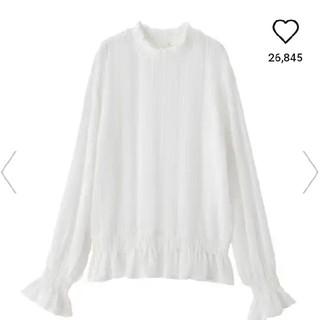 ジーユー(GU)のGU レースフリルネックT(Tシャツ(長袖/七分))