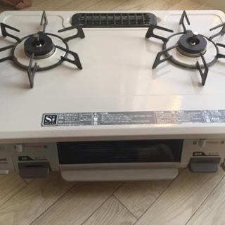 リンナイ(Rinnai)の【モフモフさん専用】リンナイ 都市ガス 二口コンロ(KGM641BE)(調理機器)