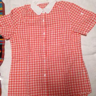 ジーユー(GU)のGU*チェックシャツ(シャツ/ブラウス(半袖/袖なし))