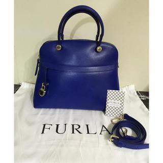 c883fe5a1307 フルラ(Furla)のFURLA パイパー ロイヤルブルー ハンドバッグ M 確実正規品 2WAY(