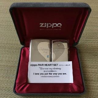 ジッポー(ZIPPO)のzippoジッポ ライター クロス・ハートデザインペアハート(タバコグッズ)