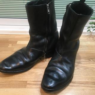 キャロルクリスチャンポエル(Carol Christian Poell)の極上キャロルクリスチャンポエル コードバン ダブルジップ ブーツ 8 正規店購入(ブーツ)