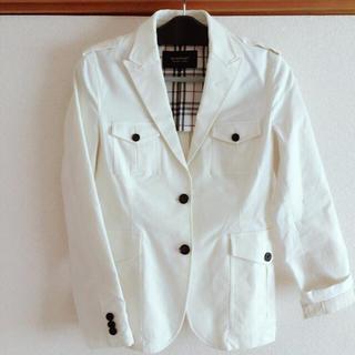 バーバリーブラックレーベル(BURBERRY BLACK LABEL)のバーバリー ホワイトジャケット(テーラードジャケット)