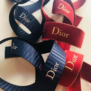 ディオール(Dior)のディオール クリスマス 限定 リボン 2種 正規品(ラッピング/包装)