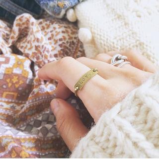 イオッセリアーニ(IOSSELLIANI)の【2/18限定SALE⚑】LOVE ♡*⑅ リング / Brass 真鍮(リング(指輪))