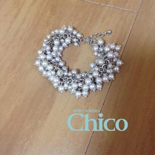 フーズフーチコ(who's who Chico)のChico パールブレスレット(ブレスレット/バングル)