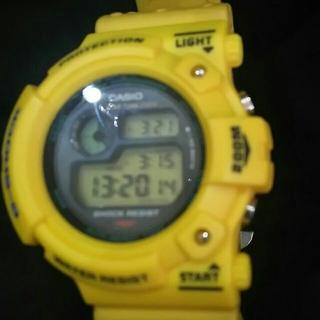 カシオ(CASIO)のフロッグマン本物イエローフロッグマン。新品ベゼル交換済み。(腕時計(デジタル))